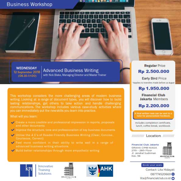 "Business Workshop ""Advanced Business Writing"""