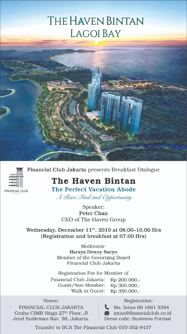 "Breakfast Dialogue ""The Haven Bintan, The Perfect Vacation Abode, A Rare Find and Opportunity&q"