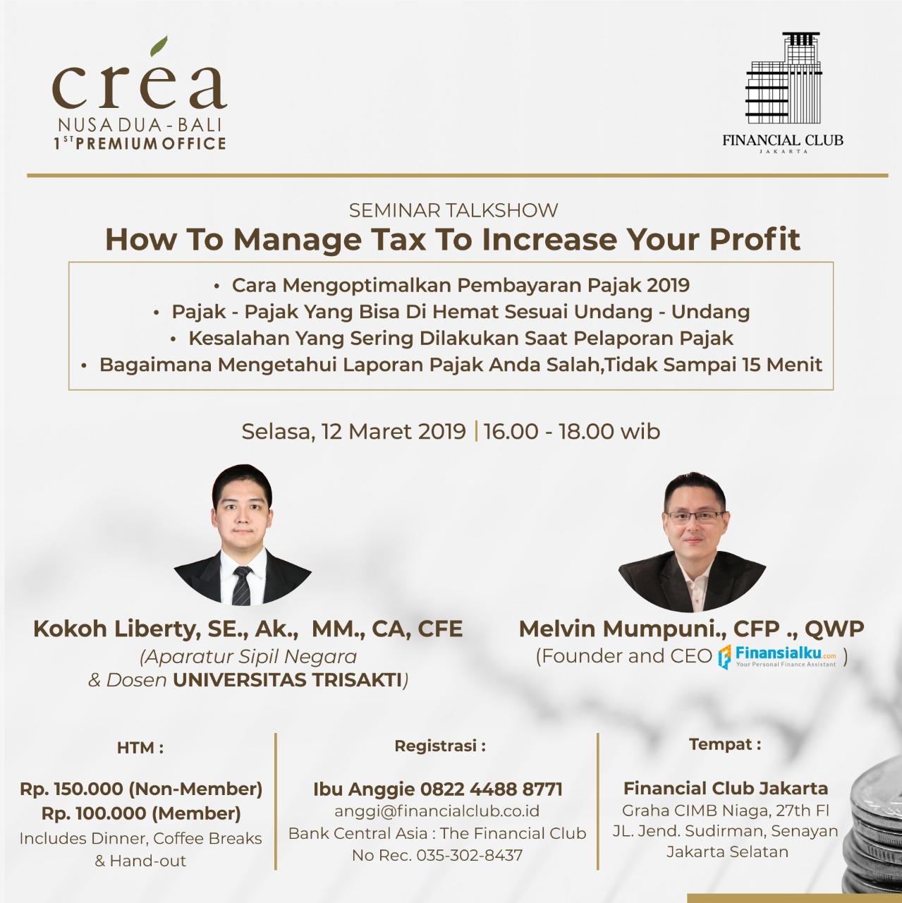 "Seminar Talkshow ""How to Manage Tax to Increase Your Profit"""
