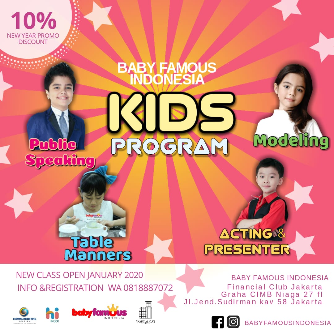 Baby Famous Indonesia & Financial Club Jakarta Kids Program, 15 Feb - 28 Mar 2020