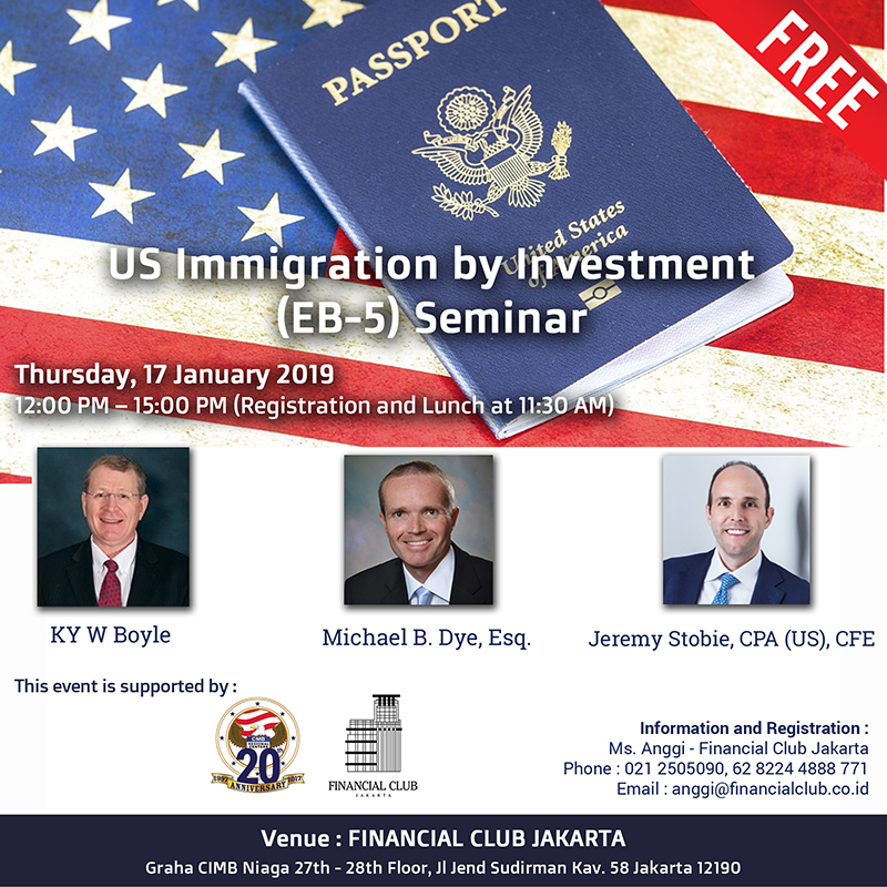 US Immigration by Investment (EB-5) Seminar