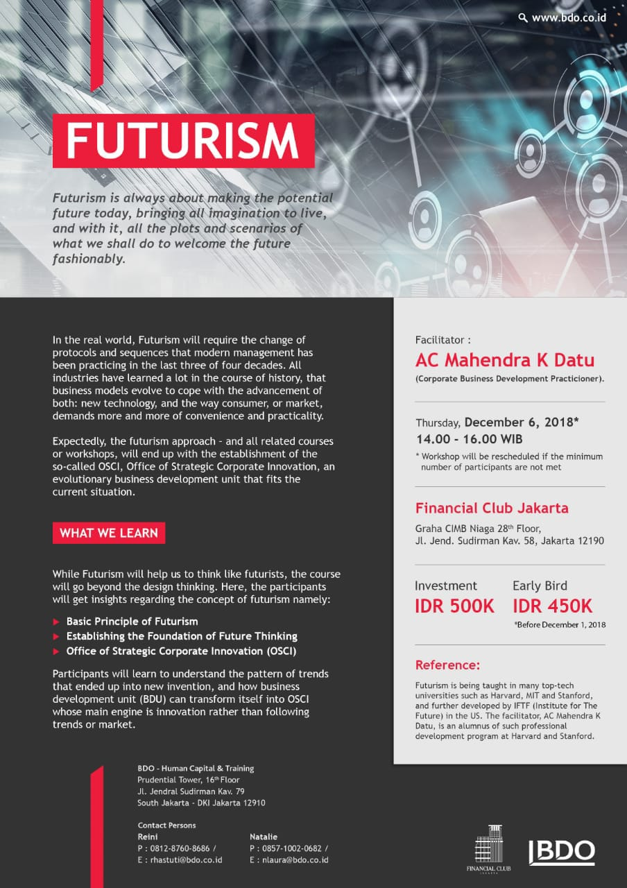 Financial Club Jakarta and BDO - Human Capital Training