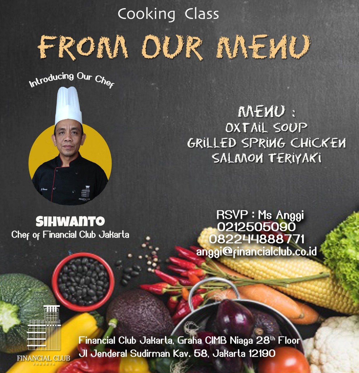 Cooking Class with Chef Sihwanto