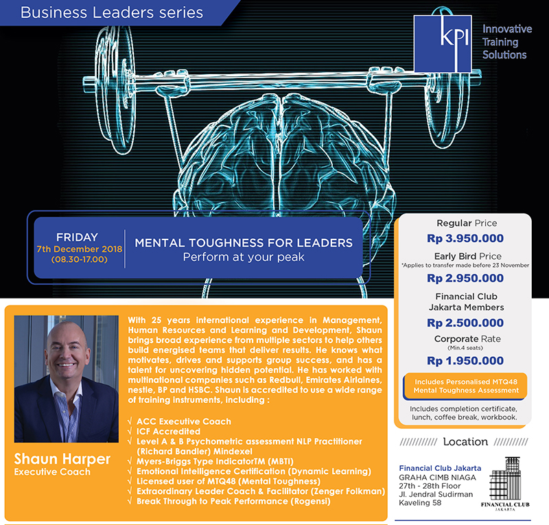 "Business Leaders Series ""Mental Toughness for Leaders"""