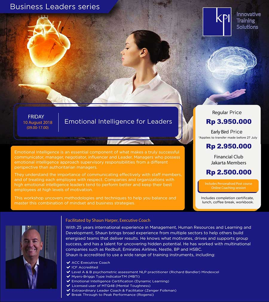 "Business Leaders Series ""Emotional Intelligence for Leaders"""