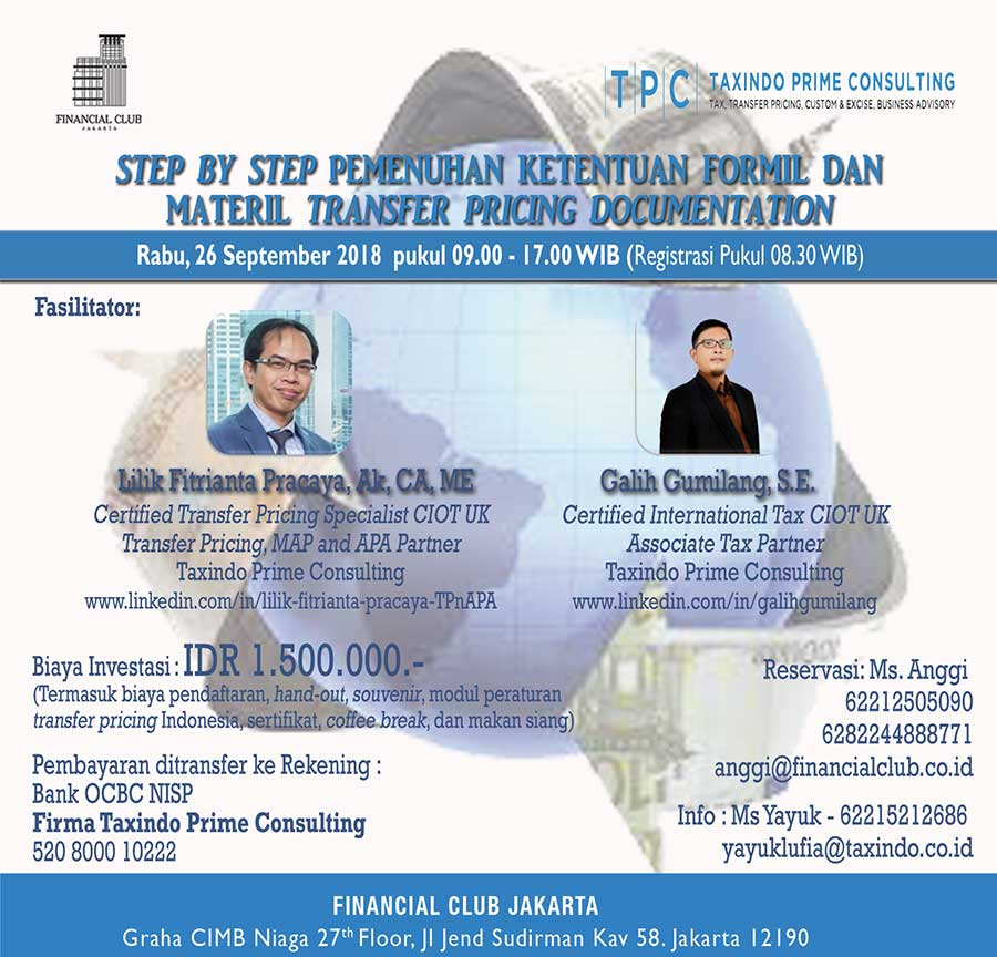 Step by Step Pemenuhan Ketentuan Formil dan Materil Transfer Pricing Documentation