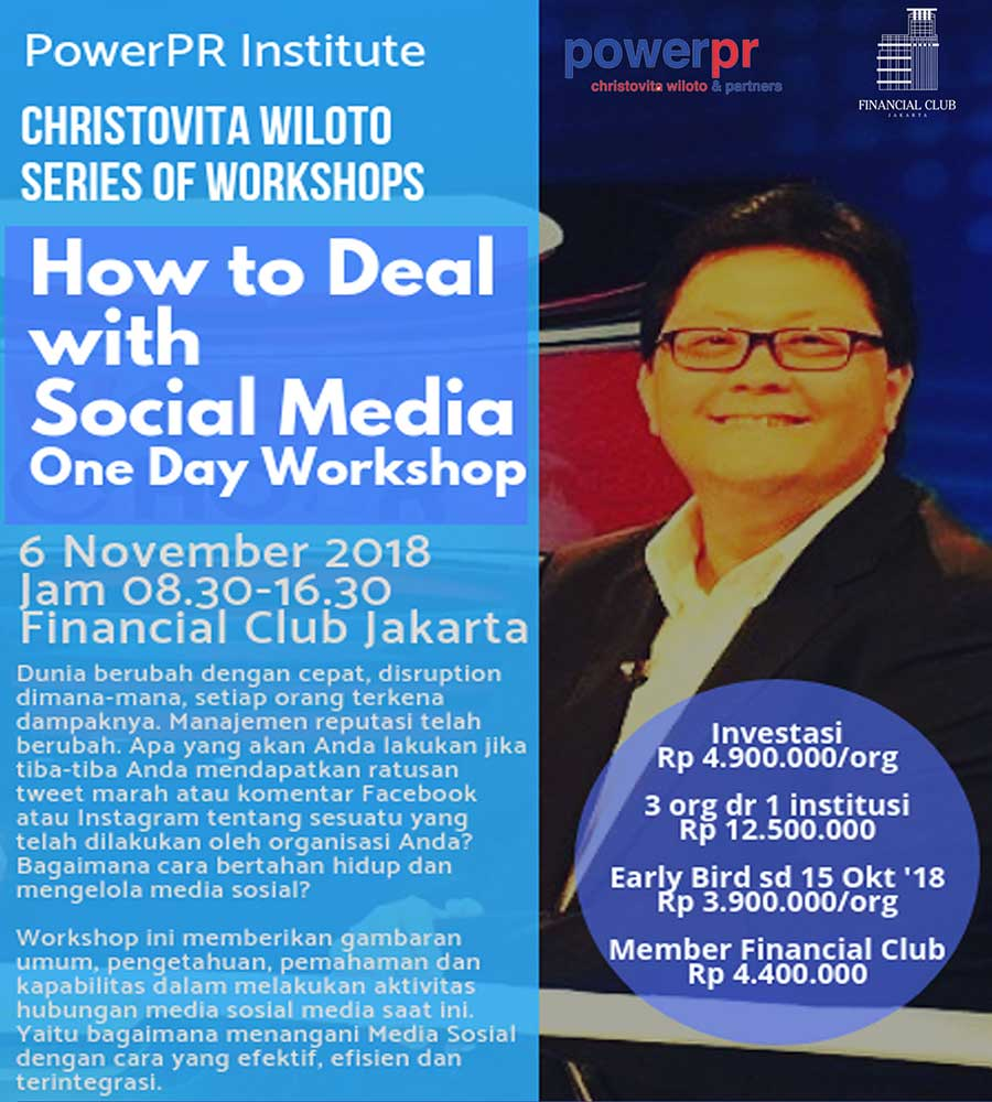 HOW TO HANDLE SOCIAL MEDIA A one day workshop