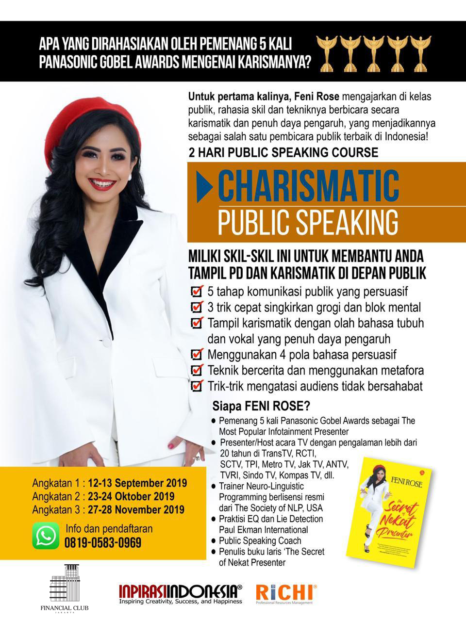Charismatic Public Speaking with Feni Rose | September 12th - 13th, 2019