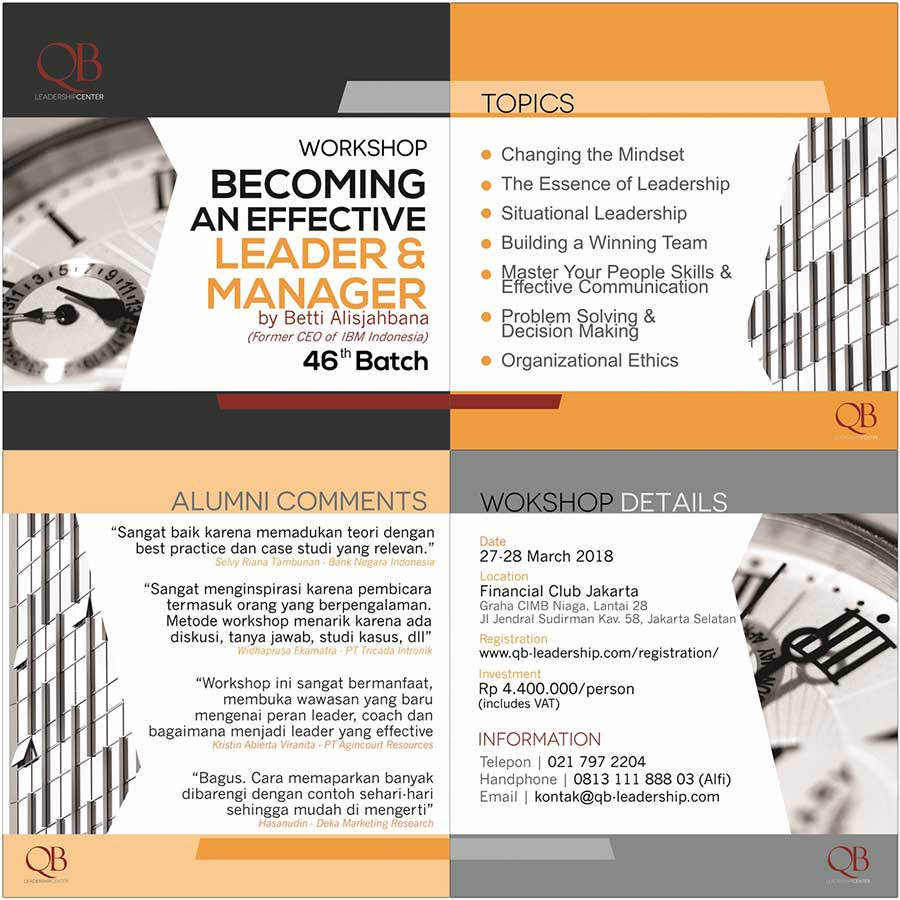 Becoming an Effective Leader & Manager