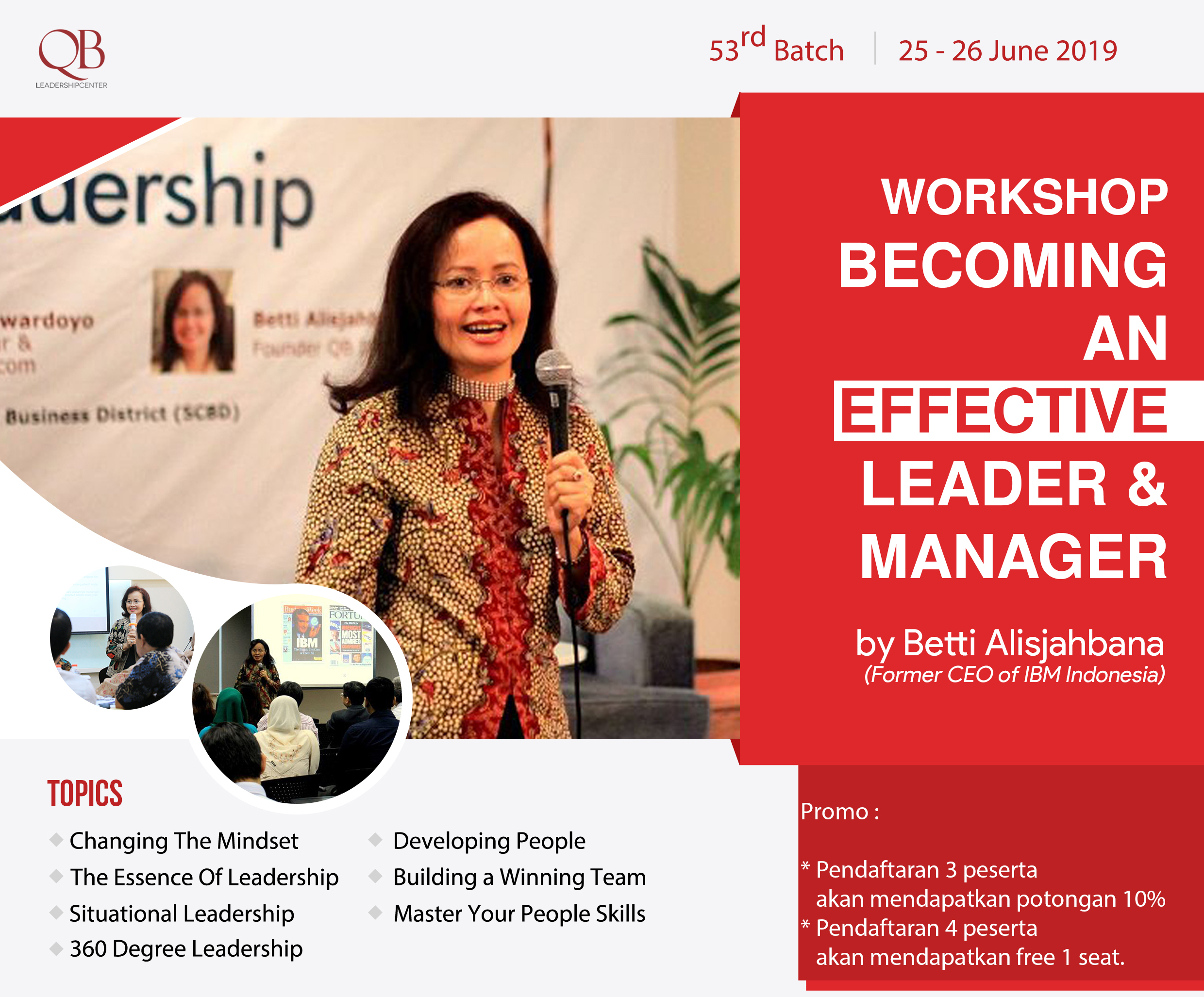 Workshop Becoming an Effective Leader & Manager