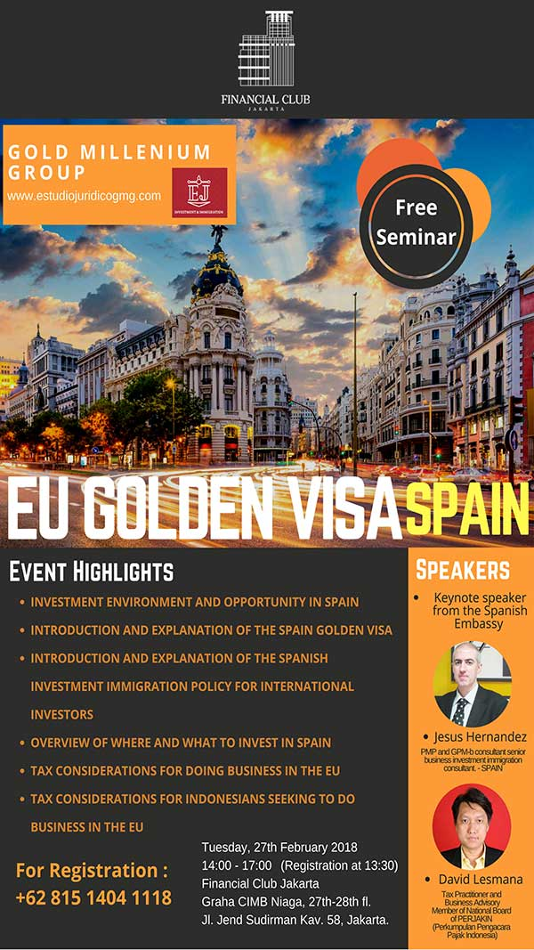 EU Golden visa with Gold Millenium Group