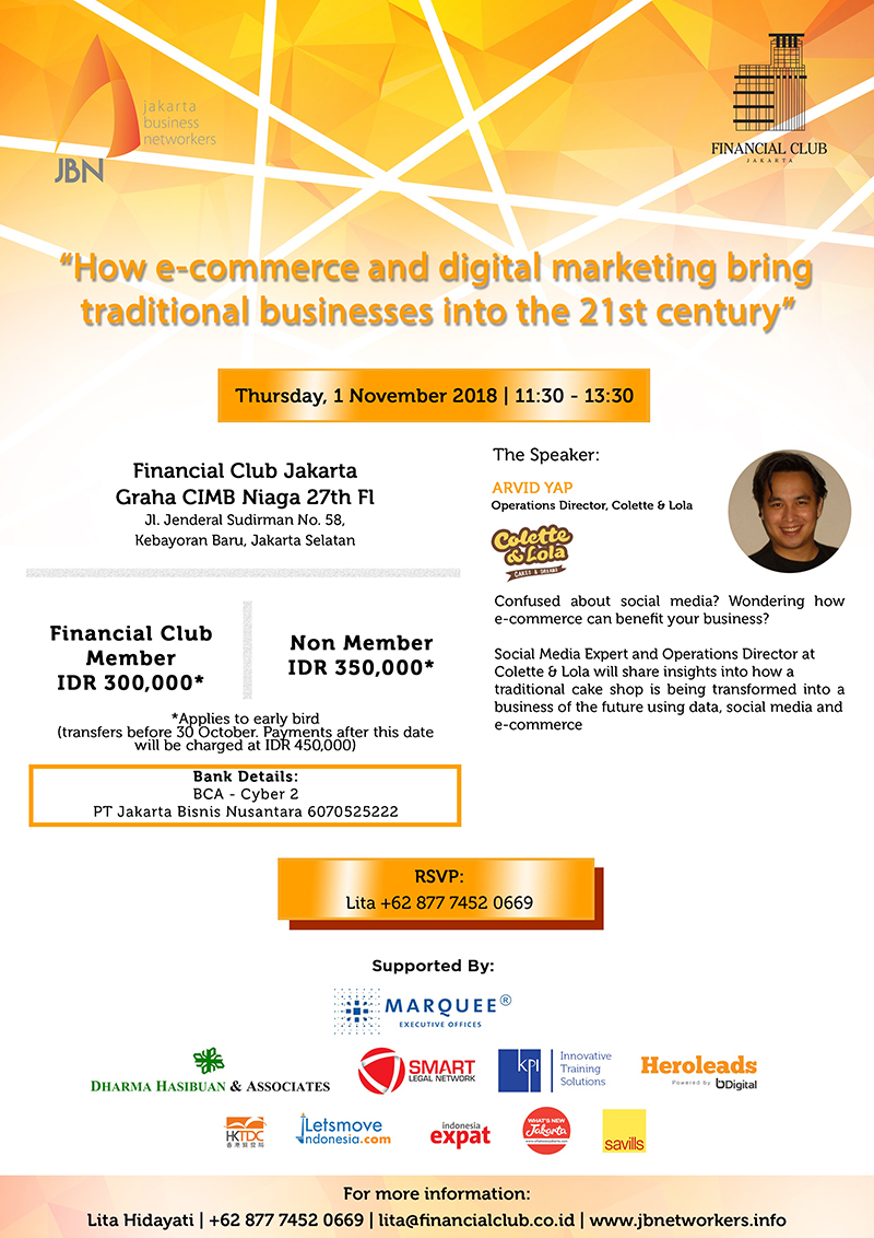 "Speed Networking Luncheon ""How E-commerce and digital marketing bring traditional businesses in"