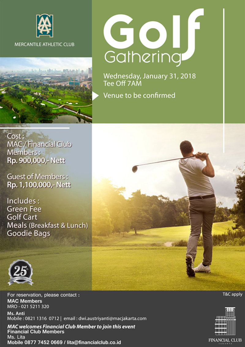 GOLF GATHERING with Mercantile Athletic Club Jakarta