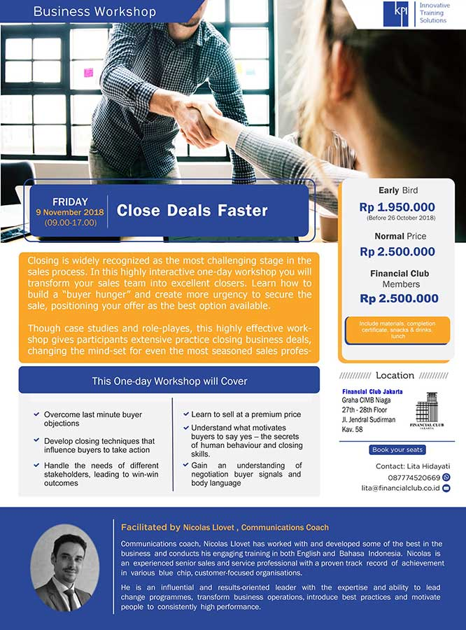 "Business Workshop ""Close Deals Faster"""